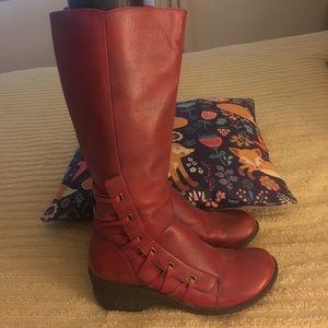 Miz Mooz leather boots, red, size EU 40.